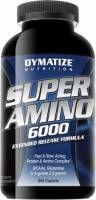 DYMATIZE Super Amino 6000 345 kap - to bogata odżywka i źródło aminokwasów. Wydajne opakowanie pozwoli Ci cieszyć się wytrzymałymi treningami, pełnymi energii oraz krótszym zmęczeniem zarazpo treningu. #sport #fitness #dymatize #suplementy