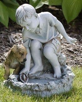 132 best Boy and Girl Garden Statues images on Pinterest Garden