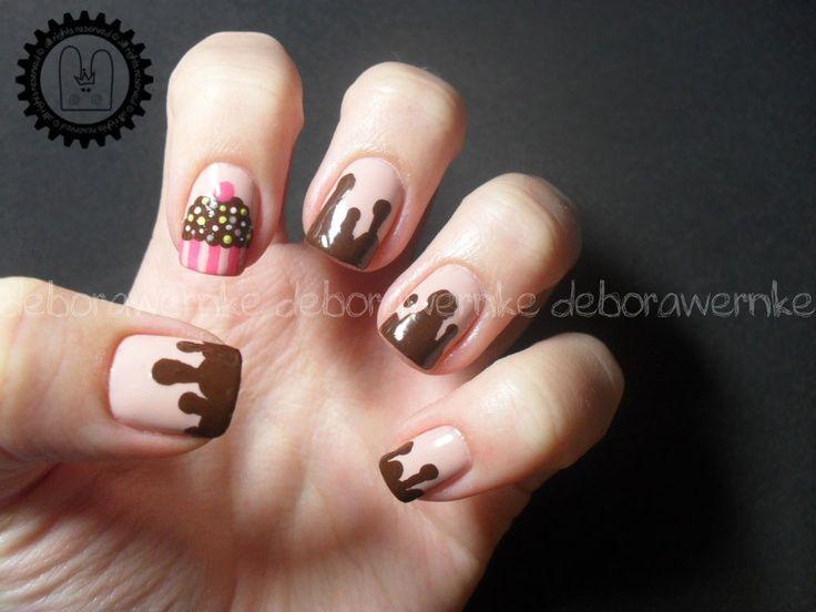 Nail art cupcake !!!