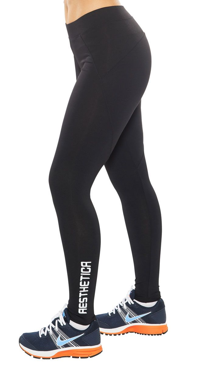 Tights by Aesthetica.  Stong Stanced Tights - Because Women are Strong. Strong, Sexy yet Fashionable Gym wear!