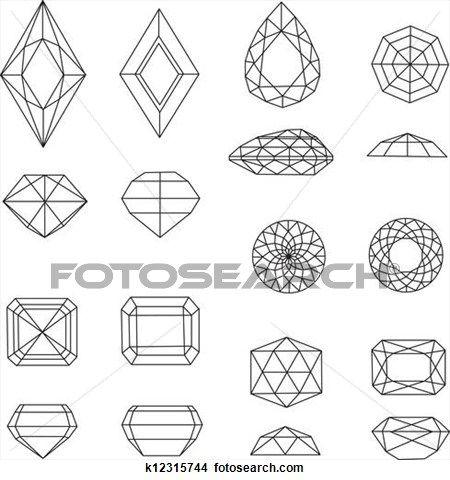 vettore, set, di, diamante, disegno Visualizza illustrazione ingrandita