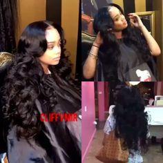 #tbt #cliffvmirthe18yearoldstylist My raw Indian hair www.cliffvmir.net