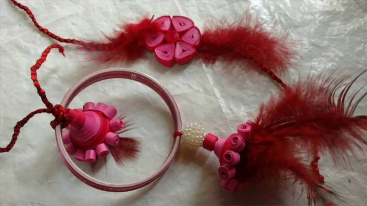 DIY Lumba Rakhi With paper Quilling For Raksha Bandhan   CraftLas