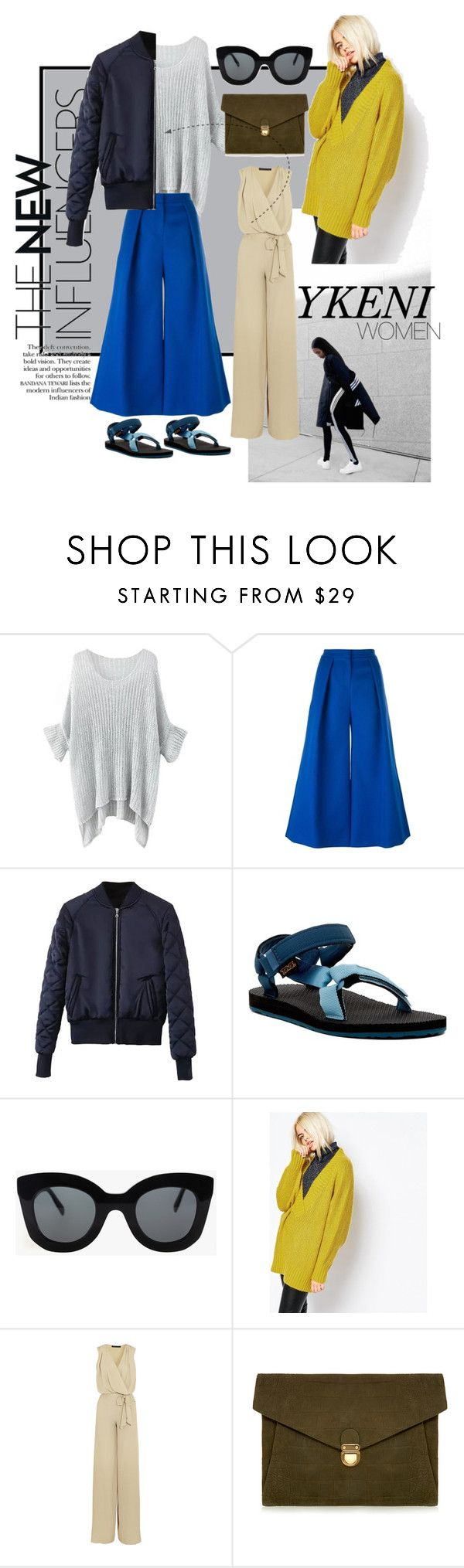 """60secondstyle"" by izrinizelan on Polyvore featuring Roksanda, Teva, CÉLINE, Monki, Maria Grachvogel, J.Lindeberg, women's clothing, women, female and woman"