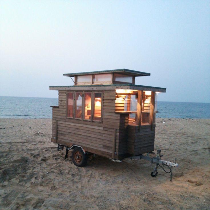 木製キャンピングトレーラ (Tiny House Japan) ーThe Basket                                                                                                                                                     もっと見る