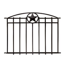 No Dig Black/Powder-Coated Steel Fence Panel (Common: 31-in x 38-in; Actual: 30.9-in x 38.4-in)
