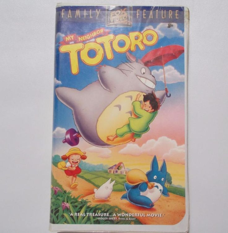 My Neighbor Totoro Anime vhs movie from 1994. Directed by Hayao Miyazaki and released by Studio Ghibli. Good condition. Minor yellowing to edges of clamshell case. Sweet Anime that can be enjoyed by children and adults alike. | eBay!