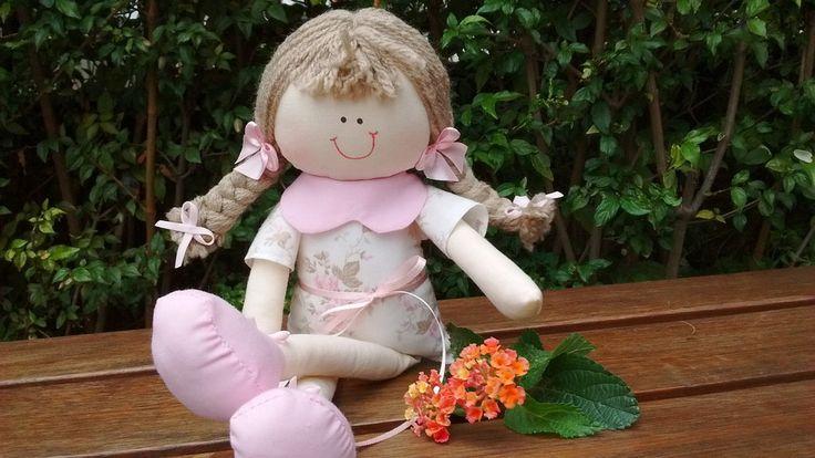 Boneca de Pano Artesanal Personalizada para Nicho Decoração Festa 30cm