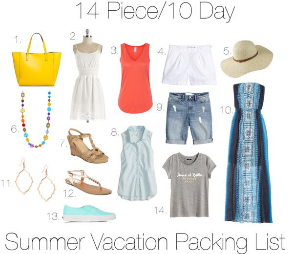 cute packing list