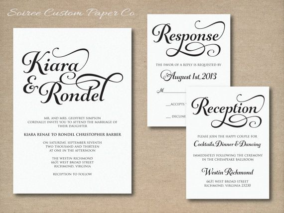 12 best images about Wedding invitation on Pinterest Wedding - best of sample letter declining invitation to event