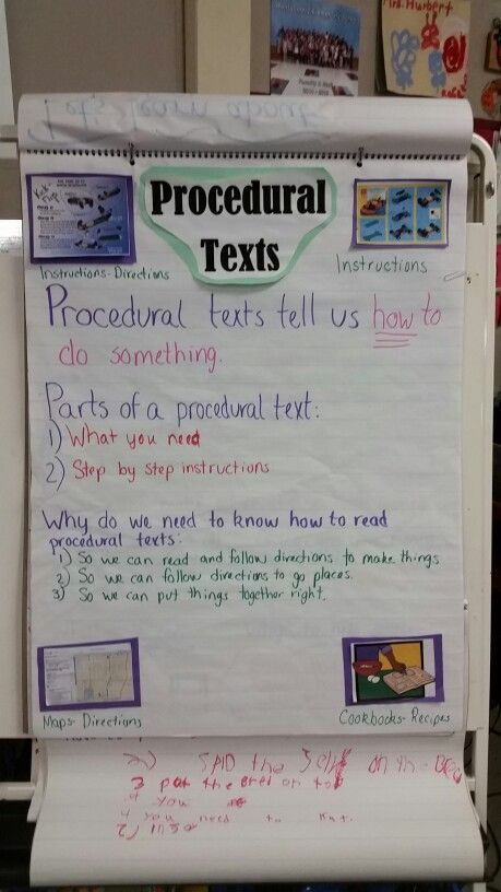 17 Best Images About Reading Writing Procedural Text On