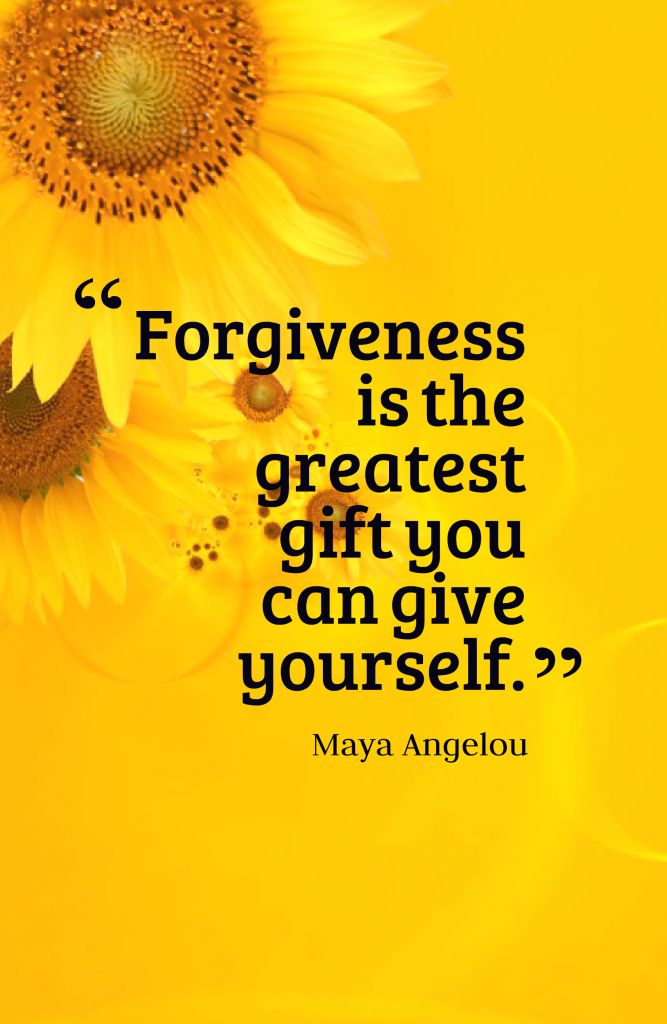Forgiveness is the greatest gift you can give yourself.-Maya Angelou~Quotes ByTT                                                                                                                                                     More