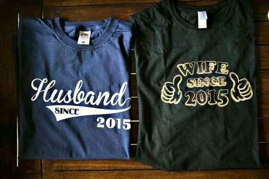 My wife got these T's to wear the day after our wedding...my wife is so AWESOME!