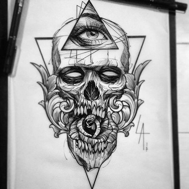 Ideas Tatuajes Calaveras 337 Skull Sketch Skull Tattoo Design Art Tattoo