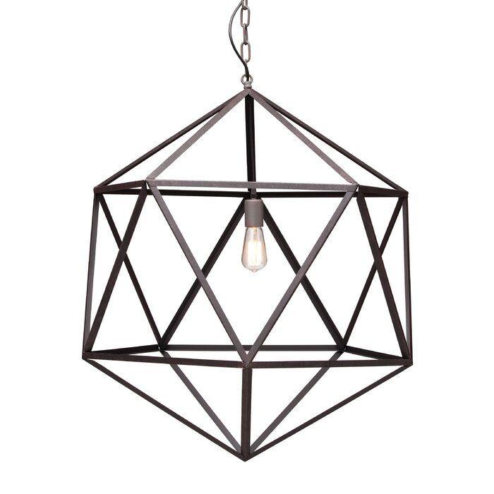 Glaser 1 Light Unique Statement Geometric Pendant Geometric Ceiling Lamp Ceiling Lamp Metal Ceiling Lamp