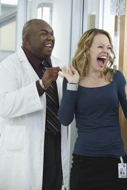 Still of Jeri Ryan and Windell Middlebrooks in Body of Proof (2011)