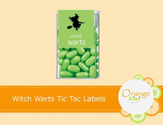 Witches Warts Tic Tac Labels Halloween Tic Tac Labels Happy