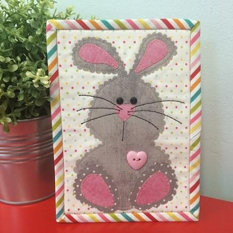Easter Bunny Mug Rug Pattern and Laser Cut Kit
