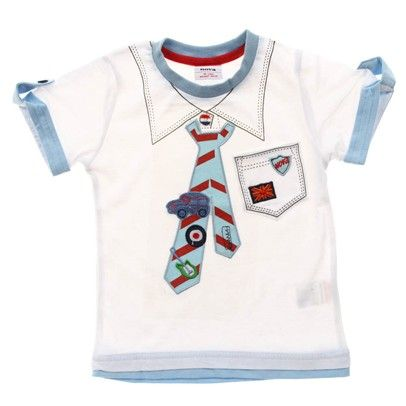 White T-Shirt With Tie Print-Ca1229-White $14.00 on Ozsale.com.au