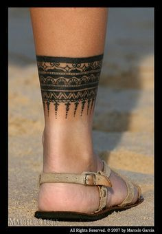 leg band tattoos for women - Google Search