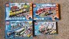 LEGO City Train Lot 7937 Station 7938 Passenger Red 7939 Cargo 8404 Public