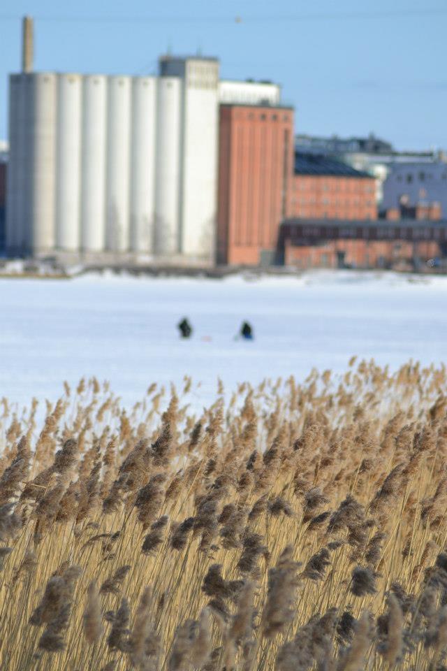 Ice fishing, Vaasa Finland