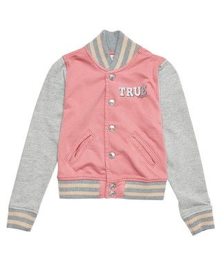 Girl's Richie pink & grey cotton jacket Sale - True Religion Sale