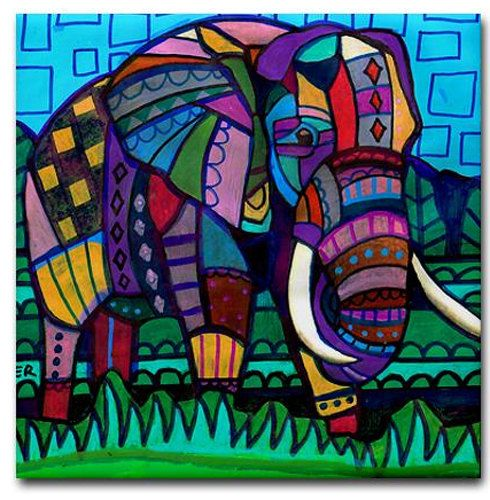Discount Code Acorn50 Elephant Art Tile Ceramic Coaster
