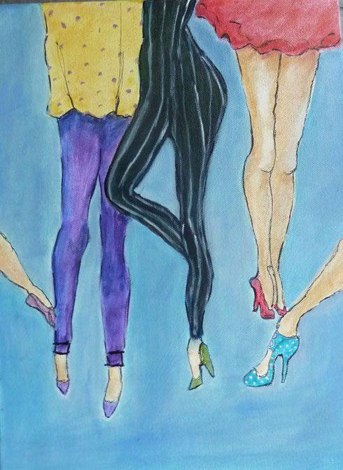 Oh !  those legs. Acrylic