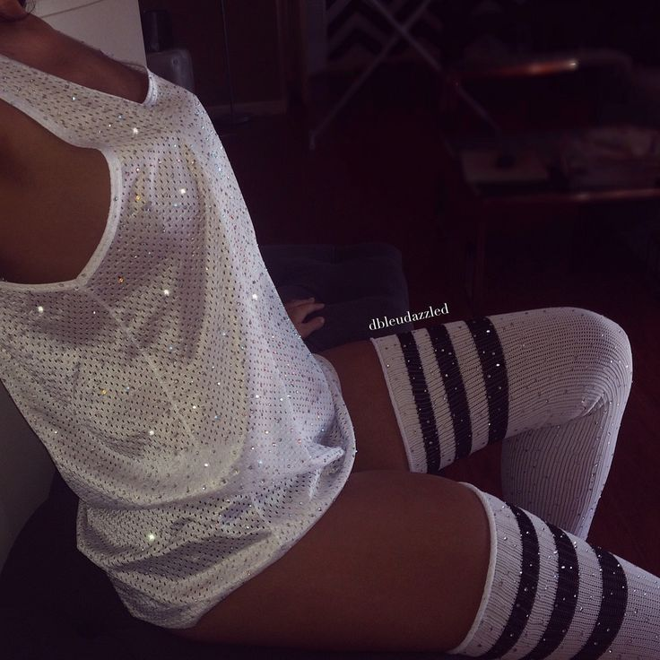 WHITE OUT ✨ White Crystallized athletic mesh tank. ✨ Runs large ✨ Available in: - S, M, L - 2 crystal colors ✨ Socks sold separately