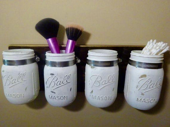 Set di 4 pinta dimensioni Mason Jar Wall di KDubWoodCreations