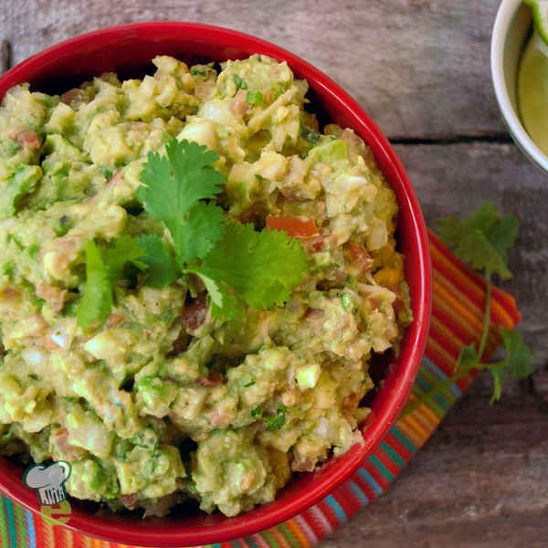 Guacamole : Try this healthy dip instead of a dip filled with unhealthy fats. Creamy avocado, jalapeño and a surprise touch of diced apple will make this guacamole recipe a party favorite.