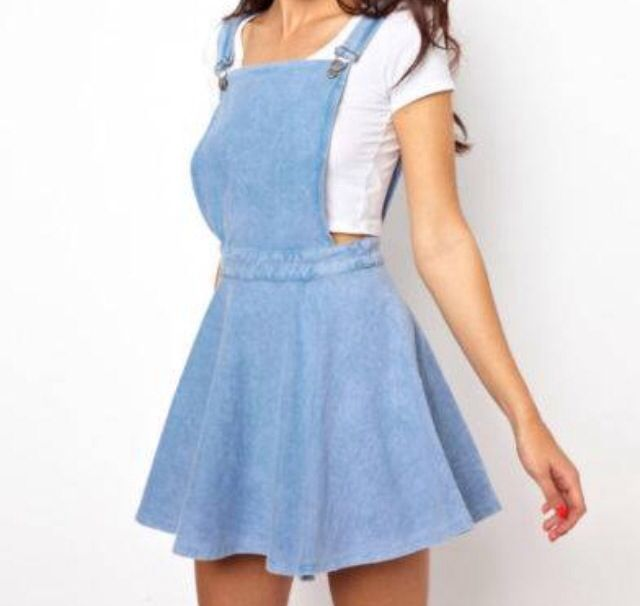 Forever New Denim Pinafore dress.