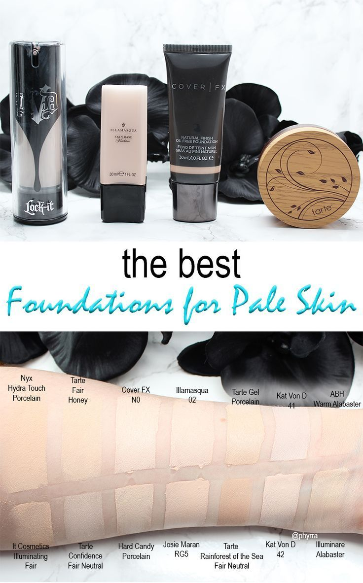 Best Foundations for Pale Skin - See all the top foundations swatched and compared.