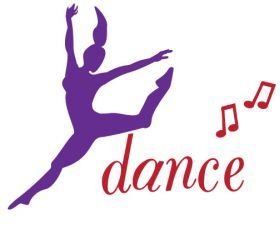 Inky Design Dance! wall decal. removable wall decorations for girls. dance