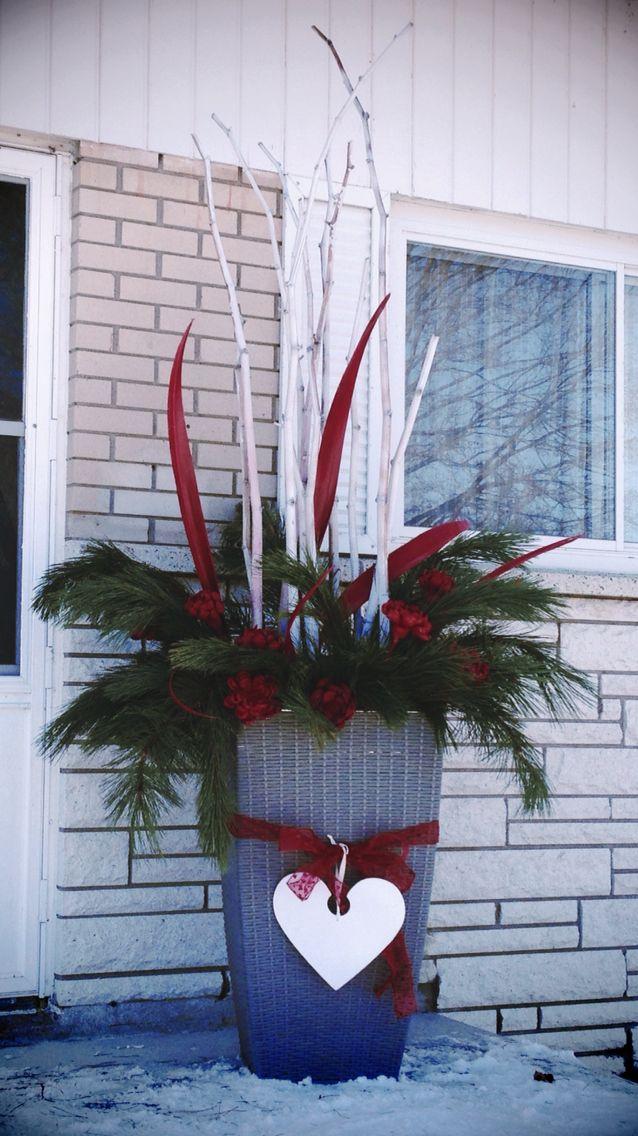 d coration de no l pour l 39 ext rieur no l crafts wreaths en ladder decor. Black Bedroom Furniture Sets. Home Design Ideas