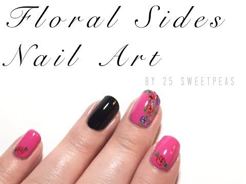 663 best nail art videos 1 images on pinterest nail art videos floral nail art tutorial youtube prinsesfo Choice Image