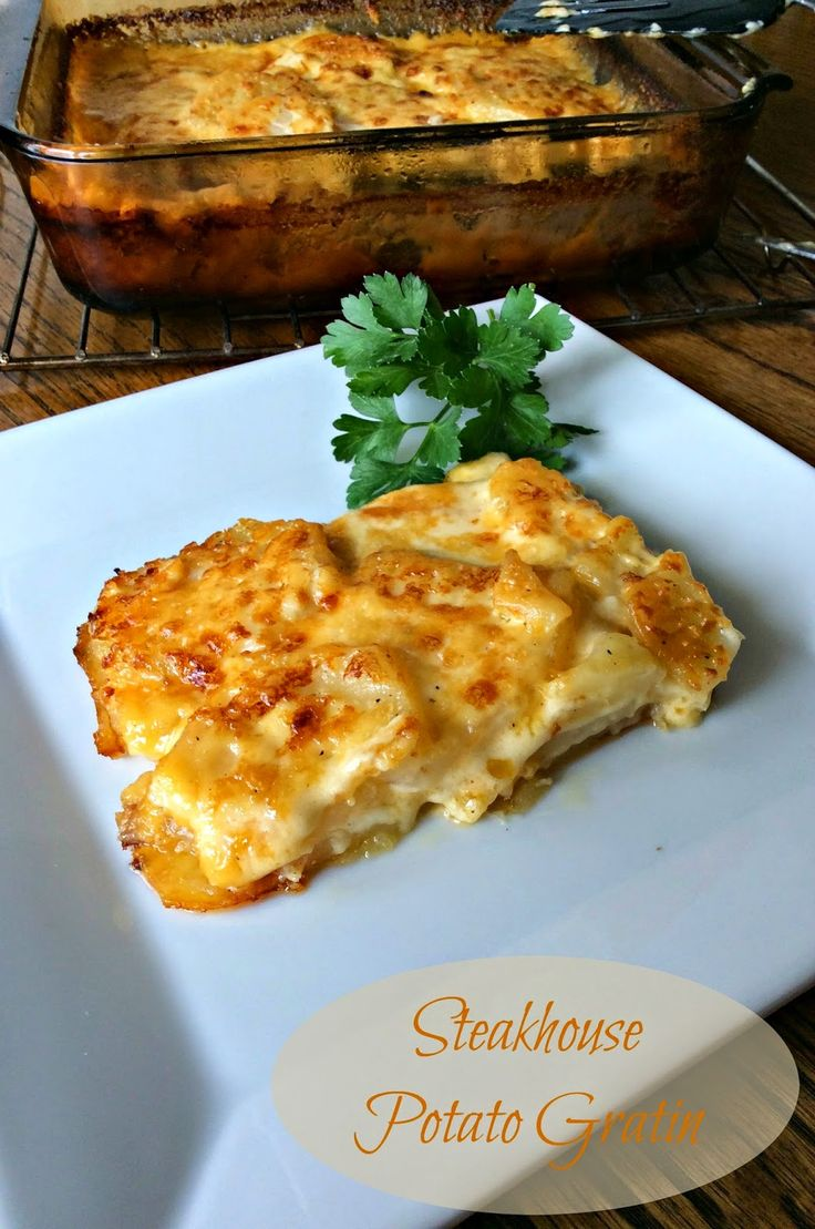 Steakhouse Potato Gratin -Calls for simmering the potatoes in cream, then reducing the cream for the sauce. Sounds delicious!