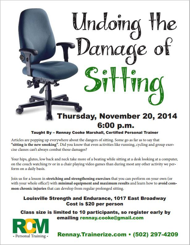 Damage of Sitting