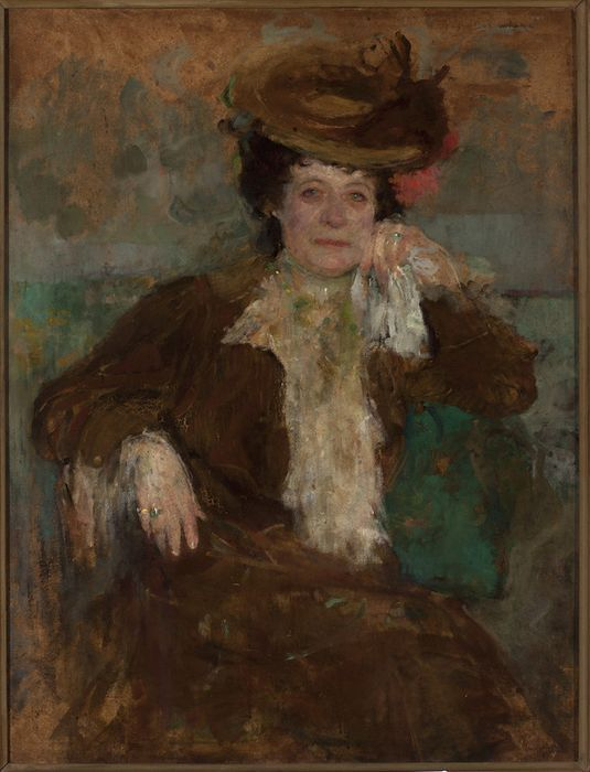 Portrait of a Woman in Brown by Olga Boznańska