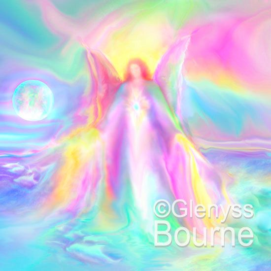 Guardian Angel LEI-ANDRA Angel Art Spirit Painting Signed