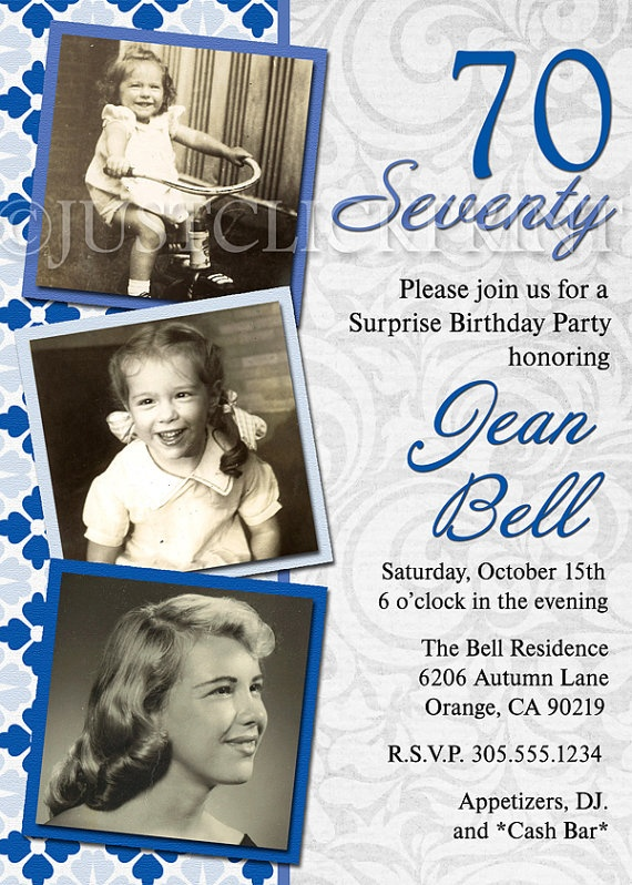 birthday invite idea with mum one side n dad the other