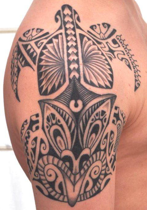 Best 25 hawaiian tattoo ideas on pinterest hawaiian - Tatouage tribal epaule ...