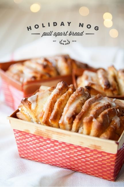 Surprise your neighbors with these homemade treats -this egg nog pull apart bread looks amazing!!
