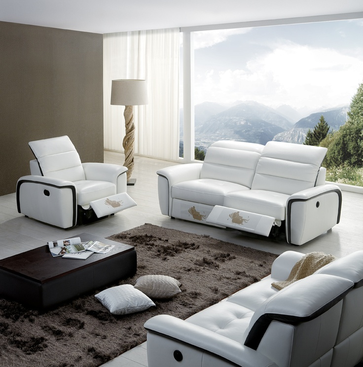 KUKA Sofa And Lounge Chair With Electric Footrests