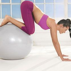 10 Exercises to do on a stability ball. Oh geez. Don't tell my Pilates teacher !