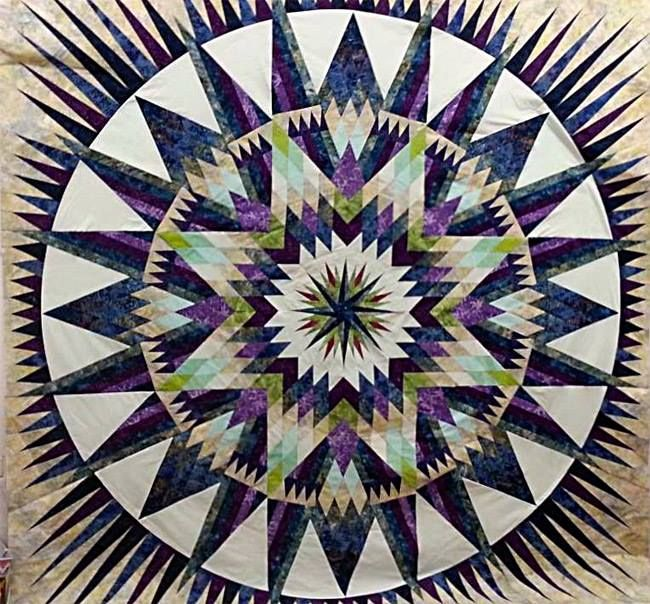 Amazon Star, Quiltworx.com, Made by Lisa Slinsky.