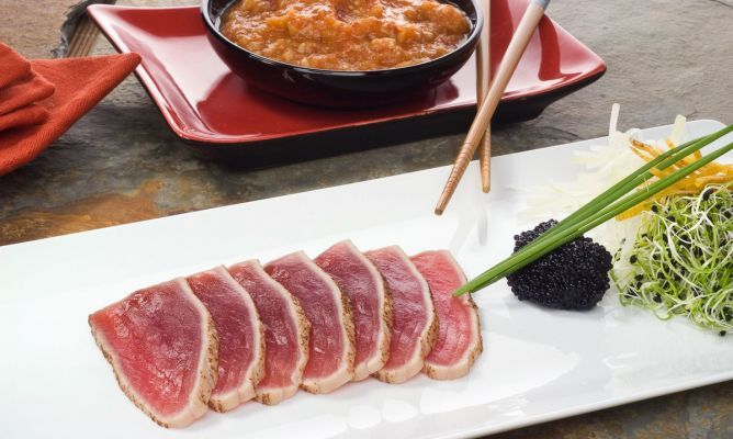 Iwao Komiyama Receta de Tataki de atún con salsa picante