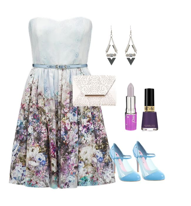 This is chic ensemble for a Sprint or Summer wedding guest outfit.  Create your own style looks at www.littleblackfrock.com.