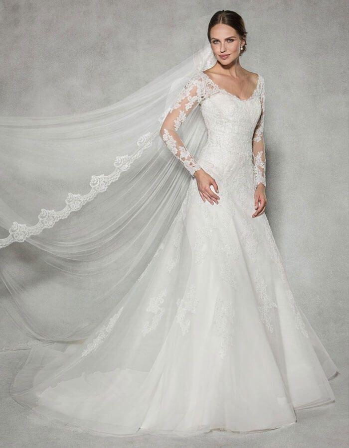 Anna sorrano lace wedding dress